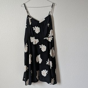 Dress with white and Coral flowers